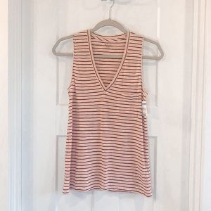 Madewell Cotton Whisper Tank Top Striped XS